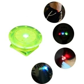 10 PCS Schoen Clip Light LED Mini Clip Light Outdoor Night Running Warning Light (Groen)