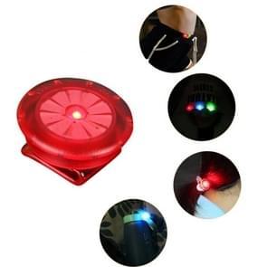 10 STKS schoen clip licht LED Mini clip licht buiten nacht Running waarschuwing licht (rood)