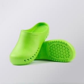 EVA Medical Shoes Scrub Orthopedic Diabetic Shoes Nurse Work Slippers for Men and Women Nursing Shoes Medical Footwear, Shoe size:35(Green)