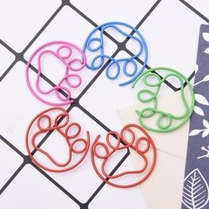 4 sets cute paw vormige metalen Paper clip bladwijzer Office accessoire