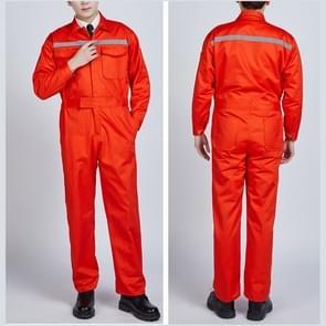 Waterproof Windproof Cotton Reflective Fashion Men And Women Conjoined Working Uniforms, Size:180/XXL(Orange)