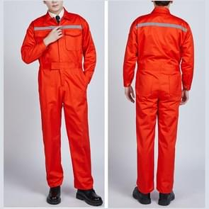 Waterproof Windproof Cotton Reflective Fashion Men And Women Conjoined Working Uniforms, Size:190/4XL(Orange)