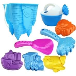 8 in 1 Plastic Castle Shape Bucket Children Beach Mold Toy Set, Random Color Delivery