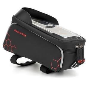 PROMEND waterdichte MTB racefiets touch screen tas voor 6 0 inch telefoon  kleur: zwart-rood neutraal magische plein