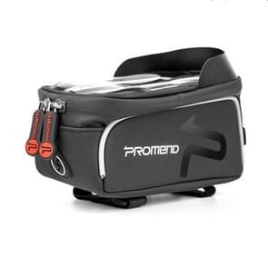 PROMEND Waterproof MTB Road Bike Touch Screen Bag for 6.0 Inch  Phone, Color:Black with headphone jack