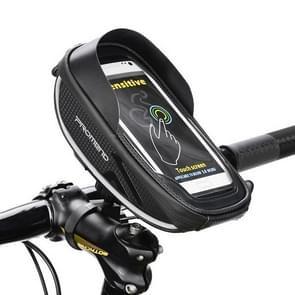 PROMEND Rainproof 6.0 inch Touch Screen Mountain Bike Handlebar Mobile Phone Storage Bag, Size: 6.0 Inch(Black)