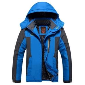 Winter fleece militaire jassen mannen winddicht waterdichte uitloper parka Windbreaker warme jas  maat: XXL (blauw)
