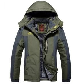 Winter fleece militaire jassen mannen winddicht waterdichte uitloper parka Windbreaker warme jas  grootte: 9XL (Army Green)