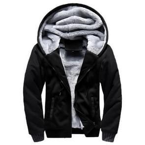 Winter parka mannen plus fluweel warm winddicht jassen groot formaat Hooded jassen (zwart)