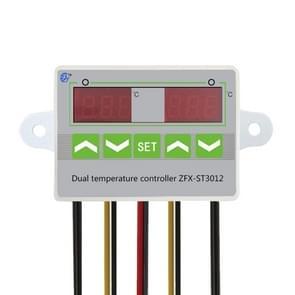 ST3012 Microcomputer Intelligent Temperature Controller Dual Temperature Dual Control Electronic Temperature Controller  Voltage:12V