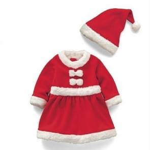 Girl Santa Claus Costume + Hat Set, Height:130cm