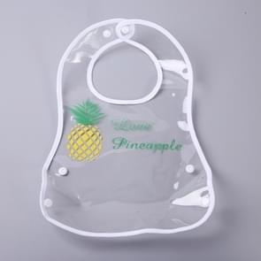 Leakproof Transparent Baby Bib Foldable EVA Waterproof Rice Bib(Pineapple)