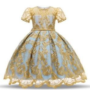 Girls European Style Bow-knot Mesh Tutu Dress Show Dress, Size:110cm(Yellow)