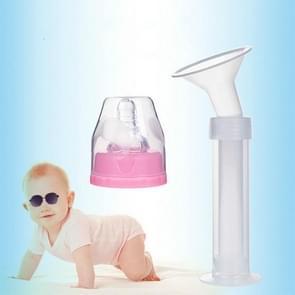 DUOLADUOBU  Breast Pump Postpartum Supplies Syringe Manual Breast Pump With Pacifier(White)