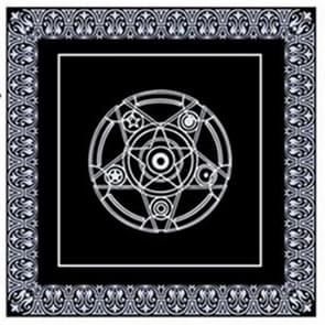 2 PCS Tarot Board Game Dedicated Black Non-woven Tablecloth, Size:49x49cm