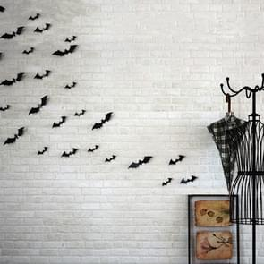 10 Sets Halloween Stereo Wall Stickers Simulation Bat Stickers