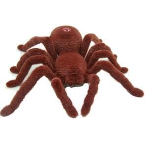Elektrische dierlijke speelgoed infrarood afstandsbediening simulatie Spider model (bruin)