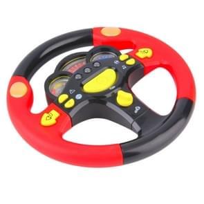 Kinderen Steering Wheel Toy vroege Kinder educatie baby verlichting puzzel Steering Wheel Toy (rood)
