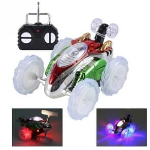 360 Tumbling Electric Controlled RC Stunt Dancing Car Kids Remote Control Toy(White)