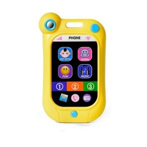 Baby Stop Crying Mobile Phone Infant Simulatie Smart Phone Kinderen Educatieve Vroege Kinderspeelgoed (Geel)