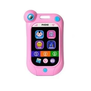 Baby Stop Crying Mobile Phone Infant Simulatie Smart Phone Kinderen Educatieve Vroege Kinderspeelgoed (Roze)