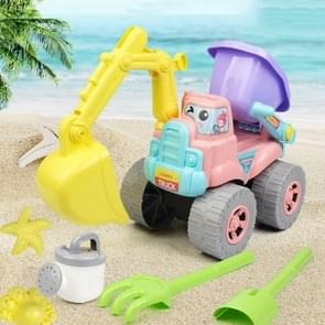 6 in 1 Simulation Engineering Car Children Beach Play Sand Toy Set