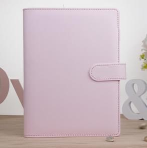 Kladblok Cover Loose Leaf Handboek Protector Eenvoudig en vers briefpapier  Kleur: A5 Cherry Pink
