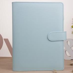 Kladblok Cover Loose Leaf Handboek Protector Eenvoudig en vers briefpapier  kleur: A6 Mint Blauw