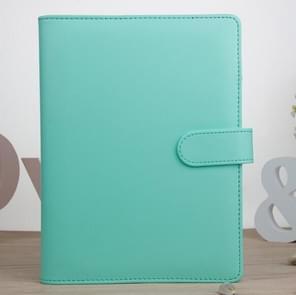 Kladblok Cover Loose Leaf Handboek Protector Eenvoudig en vers briefpapier  Kleur: A6 Lake Green
