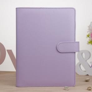 Kladblok Cover Loose Leaf Handboek Protector Eenvoudig en vers briefpapier  Kleur: A6 Lavendel Paars