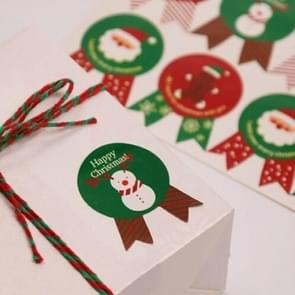10 PCS Christmas Gift Box Sealing Sticker Biscuit Bag Cake Box Sticker,Random Color Delivery