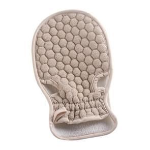 Bath Body Shower Gloves Skin Exfoliating SPA Massage Mitt Lattice Particles Washcloth(Grey White)