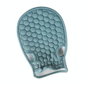 Bath Body Shower Gloves Skin Exfoliating SPA Massage Mitt Lattice Particles Washcloth(Blue)