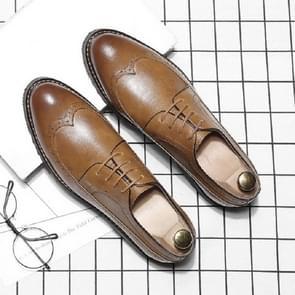 Herfst en winter schoenen mannen Britse puntige Business jurk schoenen  grootte: 43 (geel)