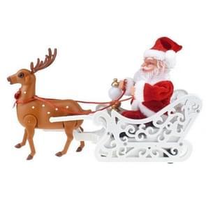 Nieuwigheid creatieve elk slee Santa Claus pop met muziek elektrische universele auto speelgoed kerstcadeau