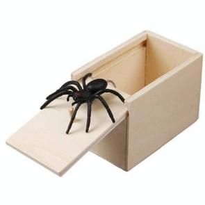 3 PCS april Fools Day Gift Houten Prank Toy Spoof Spider Box (White Box)