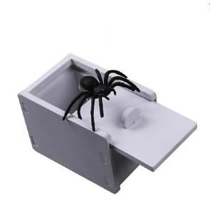 3 PCS april Fools Day Gift Houten Prank Toy Spoof Spider Box (Chevron Board)