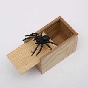 3 PCS april Fools Day Gift Houten Prank Toy Spoof Spider Box (Yellow Box)