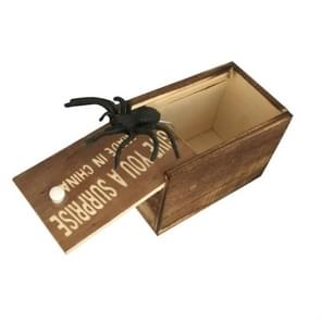 3 PCS April Fools Day Gift Wooden Prank Toy Spoof Spider Box(Letter)
