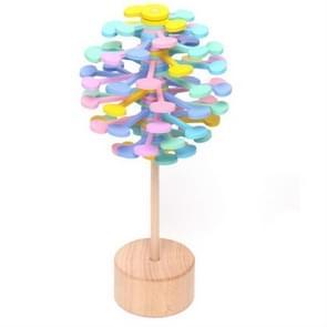 Solid Wood Roterende Lollipop Fischer Serie Creatieve Ornamenten Decompressie Speelgoed Decompressie Artefact (Macaron)