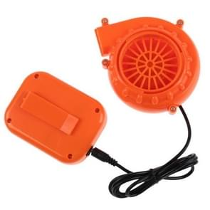 Low Noise Plastic DC Mini Blower Can Be Used for Mascot Head Car Clothing Inflatable(Orange)