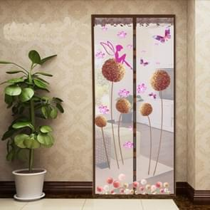 Summer Mosquito Curtain Magnetic Soft Screen Door Curtain, Size:90 x 210cm(Coffee)