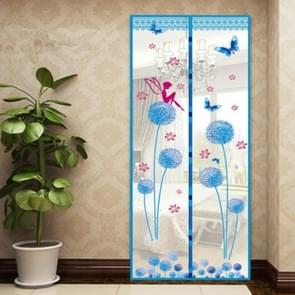Summer Mosquito Curtain Magnetic Soft Screen Door Curtain, Size:100 x 210cm(Baby Blue)