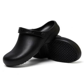 Kitchen Chef Shoes Food Service Non-slip Water-proof Oil-Proof Slippers, Size:44(Black)