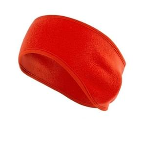 Autumn and Winter  Outdoor Sports Sweat-absorbent Breathable Warm Earmuffs Fleece Headband for Men / Women(Red)