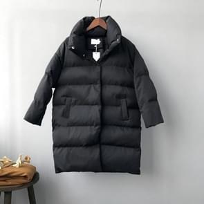 Eend naar beneden jas vrouwen winter bovenkleding vrouwelijke lange casual warme jassen  maat: L (zwart) (zwart)
