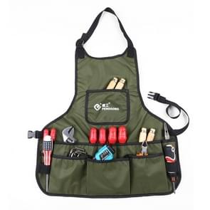 PENGGONG Waterproof Canvas Gardening Apron Tools Bag Electrician Tool Organizer For Toolkit(ArmyGreen)