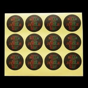 10 PCS Christmas Baking Stickers Kraft Sealing Tape, Size:3.5cm in Diameter(Jingle Bell)