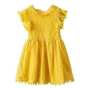 Girl Dress Flower Girls Party Wedding Dresses, Size:130cm(Yellow)