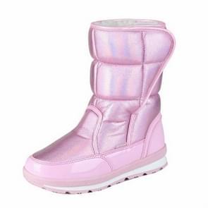 Wol warm binnen ouder-kind schoenen sneeuw laarzen  grootte: 32 (roze)